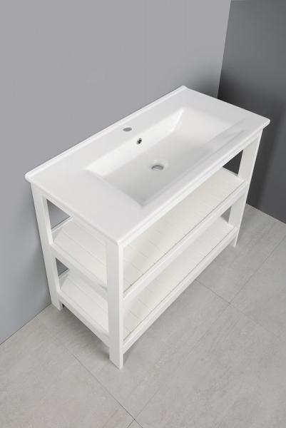 Aqualine ETIDE policová umyvadlová skříňka 81, 5x85x44 cm, bílá mat ET830