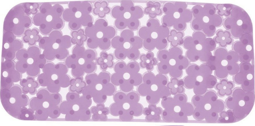 Aqualine MARGHERITA podložka do vany 34, 5x72cm s protiskluzem, PVC, lila 973572P9