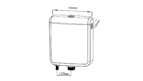 Aqualine Splachovací nádržka včetně mechanismu, spodní, polypropylen T1801
