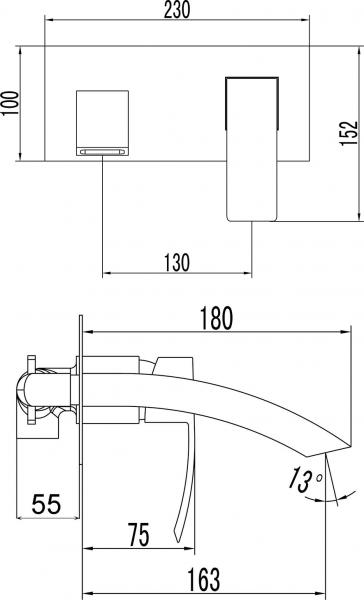 Sapho GINKO podomítková umyvadlová baterie, chrom 1101-07