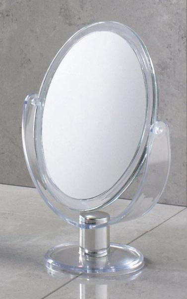 Aqualine Kosmetické zrcátko na postavení, transparentní CO2018