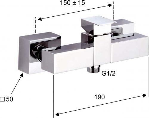 Sapho LATUS nástěnná sprchová baterie, páka vpravo, chrom 1102-21