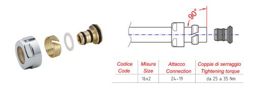 Aqualine ECO svěrné šroubení pro Alupex 16mm, nikl CP9980