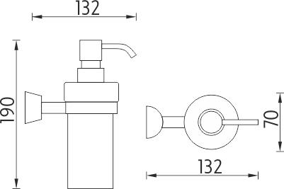 Nimco Pallas athéna Dávkovač tekutého mýdla PA 12031W-26