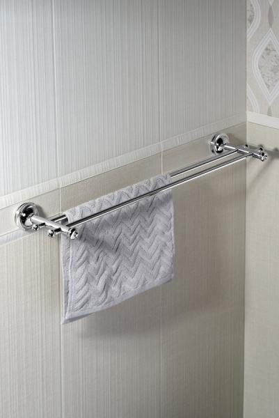 Sapho ASTOR dvojitý držák ručníků, 670 mm, chrom 1325-11