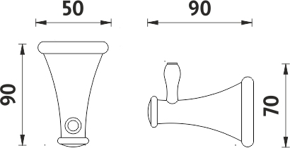Nimco Lada Háček jednoduchý LA 19054-65