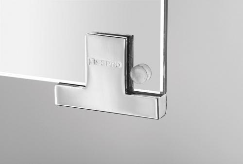 Sapho MIRRÓ galerka s LED osvětlením, 80x70x15cm, bezdotykový senzor, stříbrná RC085