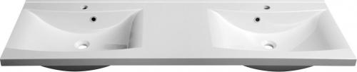 Sapho LUCIOLA dvojumyvadlo 150x48cm, litý mramor, bílá 50154