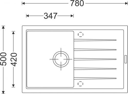 Granitový dřez Sinks BEST 780 Marone+MIX 350P ACRB78093M350P