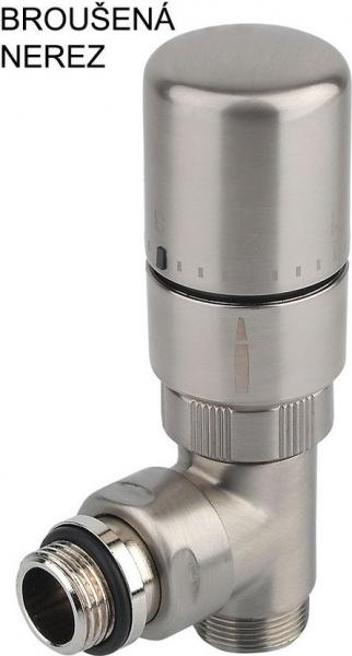 Sapho CORNER připojovací sada ventilů termostatická, pravé, broušená nerez CP1512R