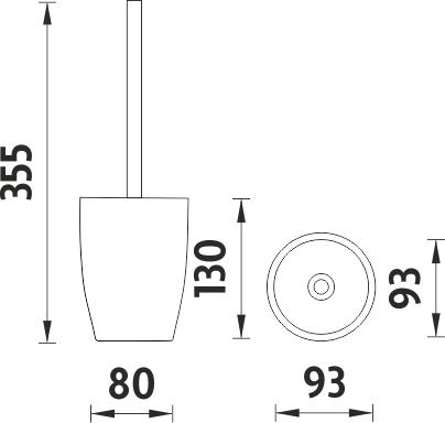 Nimco Ava Toaletní WC kartáč AV 15094-05