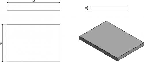 Sapho AVICE deska 70x50cm, ořech rustik AV073