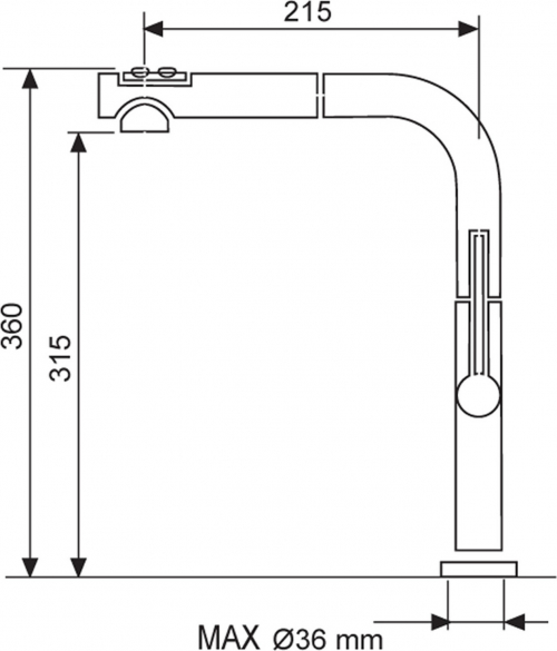 Sinks SLIM S2 lesklá AVSLS2CL
