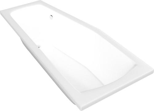 Aqualine OPAVA vana 160x70x39cm bez nožiček, pravá, bílá A1671