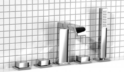 Sapho INFINITI pětiprvková baterie na okraj vany, chrom IFTECH5