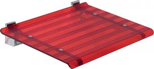 Sapho LEO sprchové sedátko 40x31cm, červená 5368R