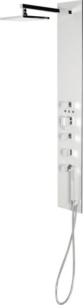 Polysan FLAT CUBE sprchový panel 210x1390mm, Aluminium 80722-1300