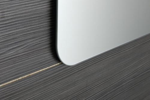 Sapho ISHAPE zrcadlo 1000x500mm, zakulacené rohy, bez úchytu AG510