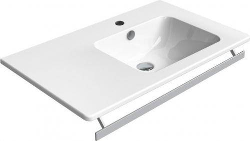 GSI PURA čelní držák ručníků pro umyvadla 80 cm asymetrická PAPR80DS
