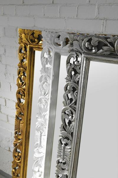 Sapho SCULE zrcadlo v rámu, 70x100cm, stříbrná IN156