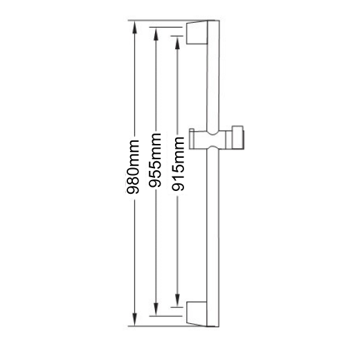 Sapho AMY sprchová souprava, posuvný držák, 980mm, chrom 1202-20