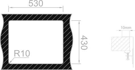 Nerezový dřez Sinks BOX 550 RO 1,0mm RDBOK5504501RO