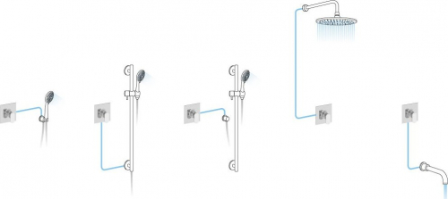 Aqualine LOTTA podomítková sprchová baterie, 1 výstup, chrom LT741
