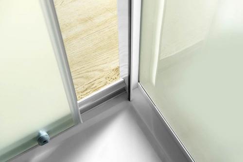 Aqualine AMADEO posuvné sprchové dveře 1000 mm, sklo BRICK BTS100
