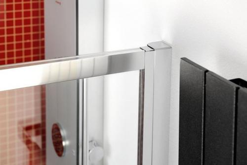 Polysan LUCIS LINE půlkruhová sprchová zástěna 900x900mm, čiré sklo DL3615