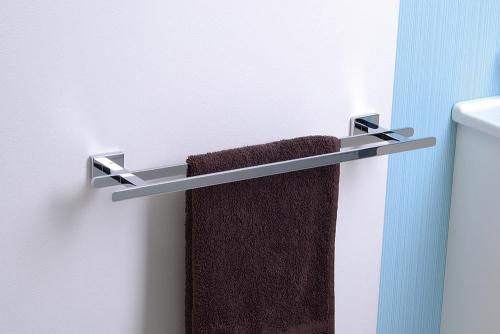 Aqualine APOLLO dvojitý držák ručníků, 550 mm, chrom 1416-11