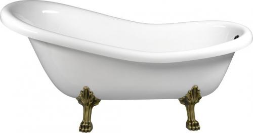 Polysan RETRO volně stojící vana 173x75x84cm, nohy bronz, bílá 36632