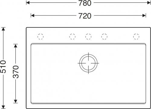Granitový dřez Sinks MAXIMO 780 Metalblack ACRMA78051074
