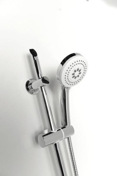 Aqualine SUNRA sprchová souprava s mýdlenkou, posuvný držák, chrom 11444