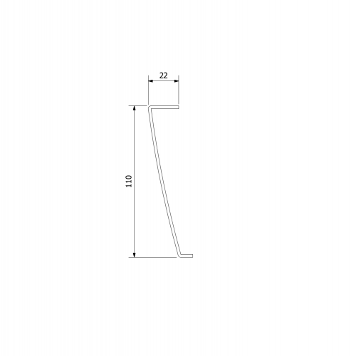 Polysan KARIA 100x90 rohový panel, výška 11 cm, levý 51312L