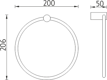 Nimco Bormo Kruhový držák na ručníky BR 11060L-26