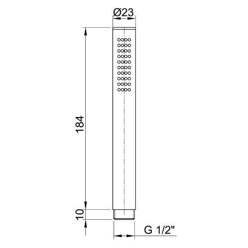 Sapho MINIMAL ruční sprcha, 184mm, nerez MI097