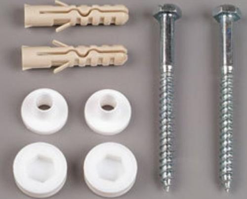 Aqualine MAK10 komplet pro kotvení WC mís, vrut 6x50, bílá 40028