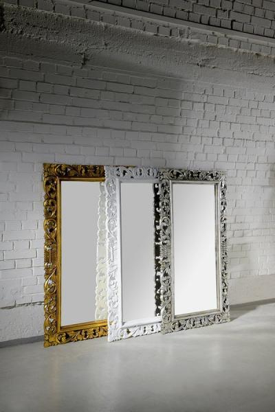 Sapho SCULE zrcadlo v rámu, 80x120cm, bílá IN324
