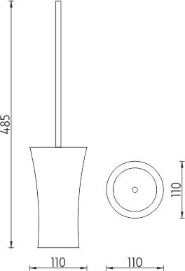 Nimco Atri Stojánkový WC kartáč  AT 5094-60