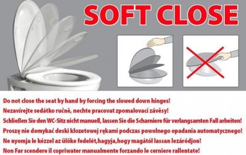 Sapho LENA WC sedátko Soft Close, antibakteriální, duroplast, bílá 1703-113