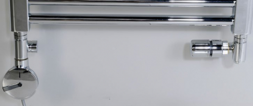 Sapho CORNER COMBI připojovací sada ventilů termostatická, pravé, broušený nerez CP3522