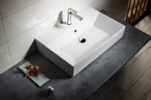 Aqualine SISTEMA keramické umyvadlo 70x42cm, bílá 10SF50070