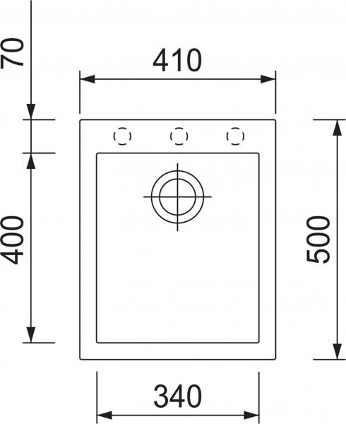 Granitový dřez Sinks CUBE 410 Metalblack TLCU41050074