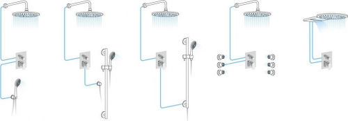 Sapho MORADA podomítková sprchová baterie, 2 výstupy, chrom MR42