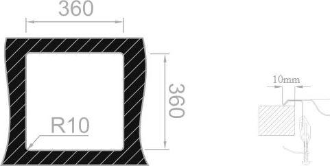 Nerezový dřez Sinks BAR 380 V 0,6mm matný (s přepadem) STSBAM3803806V