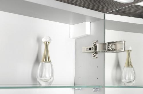 Sapho MIRRÓ galerka s LED osvětlením, 80x70x15cm, stříbrná RC080