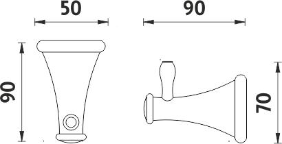 Nimco Lada staroměď Háček jednoduchý LA 19054-80