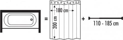Ridder Teleskopická tyč, 110-185cm, prům.25mm, chrom 55200