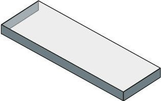 Sapho TAILOR rockstone deska 210x50 cm, provedení límce C TR210C