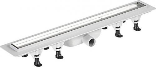 Polysan TILE plastový sprchový kanálek s nerezovým roštem pro dlažbu, 820x123x68 mm 72838